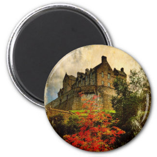 Edinburgh Castle 6 Cm Round Magnet