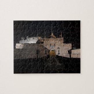 Edinburgh Castle entrance, at night, Edinburgh Jigsaw Puzzle