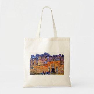 Edinburgh Castle, Scotland. Canvas Bags