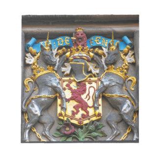 Edinburgh coat of arms, Scotland Notepad