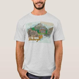 Edinburgh landmarks tshirt
