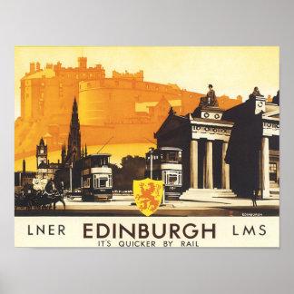 Edinburgh LNER Vintage Travel Print