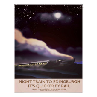 Edinburgh Locomotive travel poster