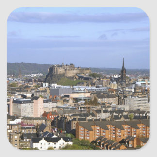Edinburgh, Scotland. A view overlooking central Square Sticker