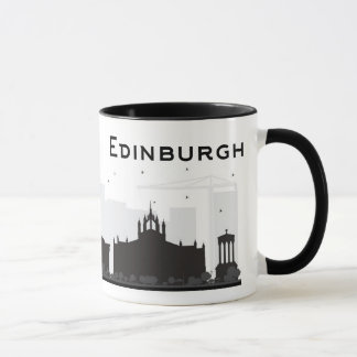 Edinburgh Scotland | Black and White Skyline Mug