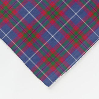 Edinburgh Scotland District Tartan Fleece Blanket
