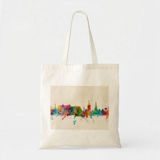 Edinburgh Scotland Skyline Canvas Bags