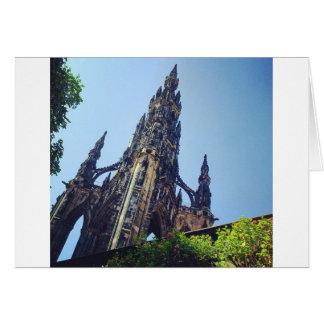 Edinburgh Scott's Monument Card