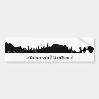 Edinburgh Skyline Bumper Sticker