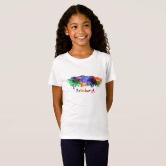 Edinburgh skyline in watercolor T-Shirt