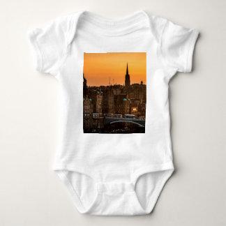 Edinburgh Skyline Sundown Baby Bodysuit
