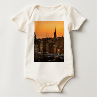 Edinburgh Skyline Sundown Baby Bodysuit
