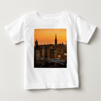 Edinburgh Skyline Sundown Baby T-Shirt