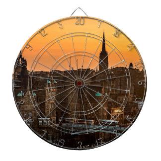Edinburgh Skyline Sundown Dartboard