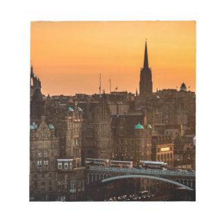 Edinburgh Skyline Sundown Notepad