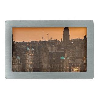 Edinburgh Skyline Sundown Rectangular Belt Buckles