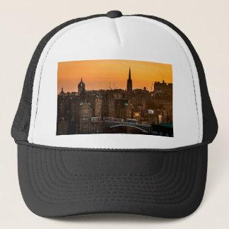 Edinburgh Skyline Sundown Trucker Hat