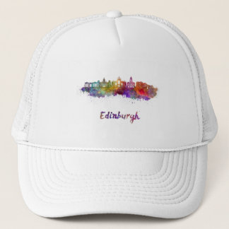 Edinburgh V2 skyline in watercolor Trucker Hat