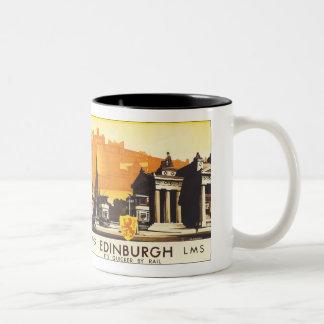Edinburgh via LNER Rail Poster Coffee Mug