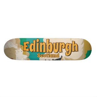 Edinburgh Vintage Travel Poster 20.6 Cm Skateboard Deck