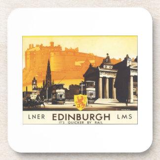 Edinburgh Vintage Travel Poster Coasters
