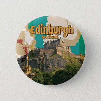 Edingburgh,Scotland Vintage Travel Poster 6 Cm Round Badge