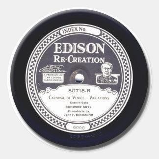 EDISON Re-Creation mini phonograph record stickers