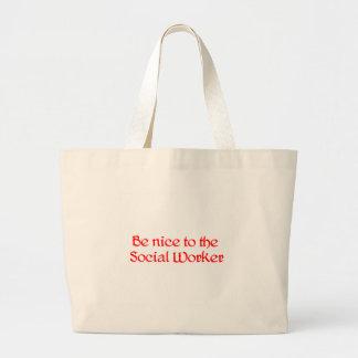 edit social work large tote bag