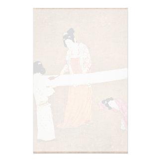 Edit Women'S New Silk By Meister Nach Chang Hsüan Customized Stationery