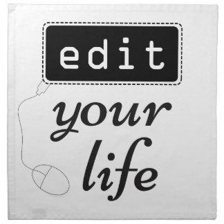 Edit Your Life Napkin