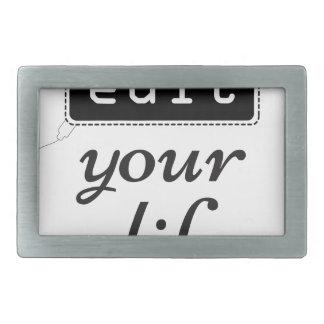 Edit Your Life Rectangular Belt Buckles