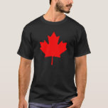 Editable Background Red Canada Maple Leaf Souvenir T-Shirt