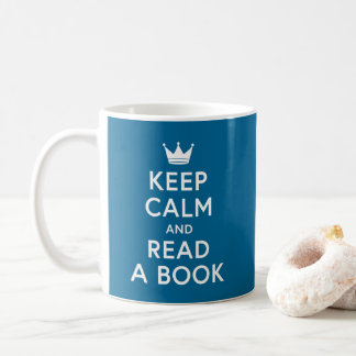 Editable Color Bookish Keep Calm and Read a Book Coffee Mug