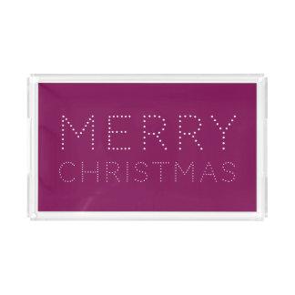 EDITABLE Color Merry Christmas Holiday Acrylic Tray