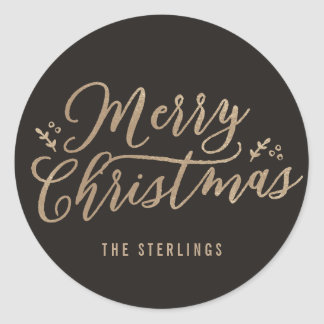 EDITABLE COLOR Merry Christmas Sticker or Label