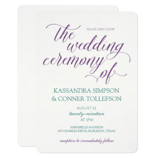 EDITABLE COLORS! Hope Calligraphy Wedding Invite