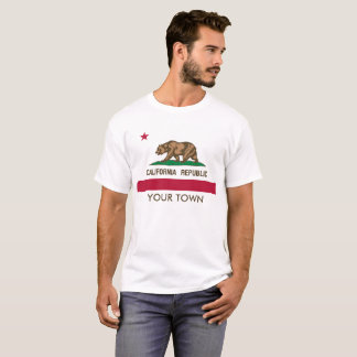 Editable / Customizable California State Flag T-Shirt