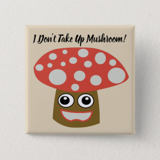 Editable Cute Cartoon Mushroom Square Button