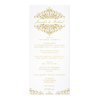 EDITABLE DESIGN COLOR Charlene Elegant Program Rack Card
