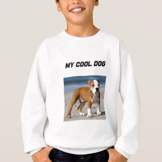 Editable Dog on the Beach Sweatshirt