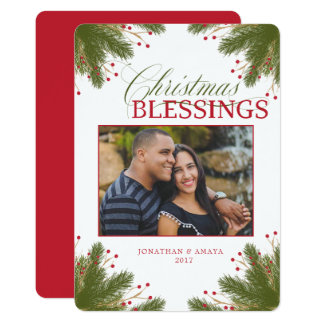 EDITABLE Elegant Evergreen Christmas Card