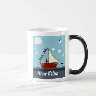 Editable Gone Fishing Morphing Mug