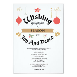 Editable Holiday Invitation