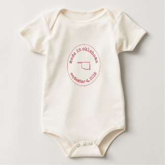 Editable Made in Oklahoma Stamp of Approval Baby Bodysuit