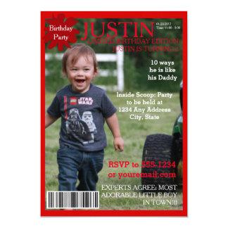 Editable Magazine Cover Party Invitation