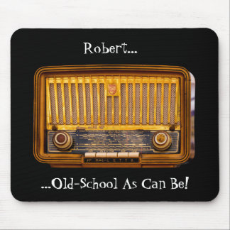 Editable Name Antique Tube Retro Radio Mouse Pad
