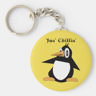 Editable Percius The Penguin Basic Keychain