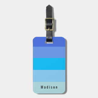Editable Personal Sky Blue Water Hues Luggage Tag