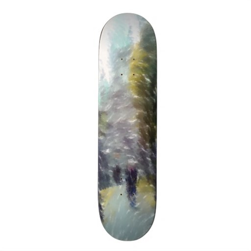 Edited photo building and trees skateboard decks