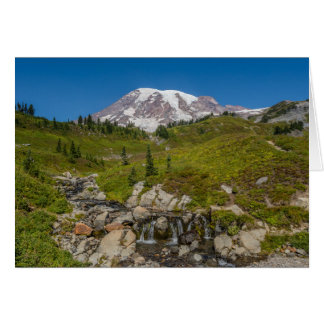 Edith Creek and Mount Rainier Greeting Card